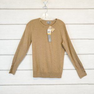 JM Collection Pullover Sweater Button Detail Small
